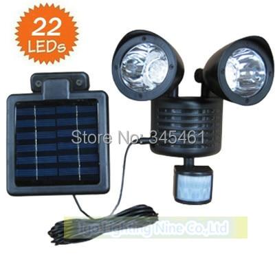ФОТО Motion Sensor Solar light 22 LED wall mounted Solar Powered outdoor PIR sensor Lights solar Flood light garden wall sensor lamp
