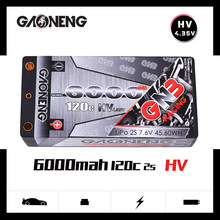 Gaoneng GNB 6000mAh 2S 7.6V HV 120C/240C Hardcase SHORTY LiPo Battery pack for 1/10 RC Car B5M 22 RB6 22T SCT Race Car parts(China)
