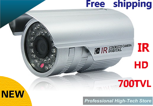 Free shipping CCTV 700 TVL Sony CCD High line IR LED Security camera 3mm -12mm Optional outdoor Surveillance Camera free shipping new 1 3 sony ccd hd 1200tvl waterproof outdoor security camera 2 pcs array led ir 80 meter cctv camera