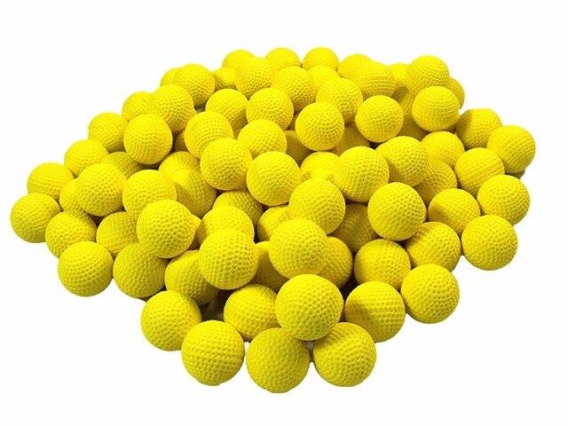 500 pcs Round Refill Replace Bullet Balls Toy Nerf Rival Apollo Zeus Gun  Yellow