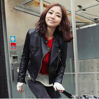Spring And Autumn New Women S Leather Jacket Slim Women S PU Leather Jacket Motorcycle Short