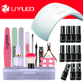 sun9c plus 36W UV led pro Nail Art UV Gel Kits sets Tools 36w uv led nail lamp manicure set Soak-off Gel polish Top & Base Coat