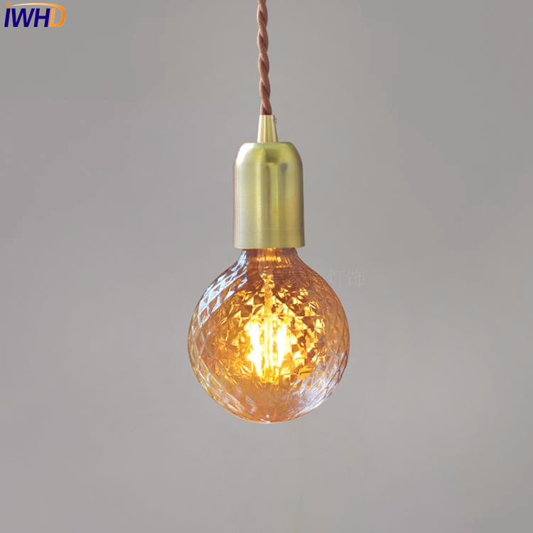 IWHD American Copper LED Pendant Light Fixtures Dinning Room Creative LED Edison Vintage Lamp Hanging Lights Lamparas LampenIWHD American Copper LED Pendant Light Fixtures Dinning Room Creative LED Edison Vintage Lamp Hanging Lights Lamparas Lampen