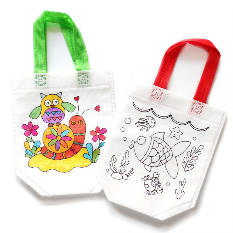2pcs Children DIY Drawing Craft Color Bag Kids Early Educational Toys Novelty Funny Kindergarten teaching aids Random Pattern