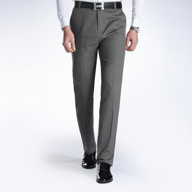 2016 terno dos homens novos calças de Verão homem de negócios de algodão fino calça casual calças retas para os homens por atacado primavera pai calças