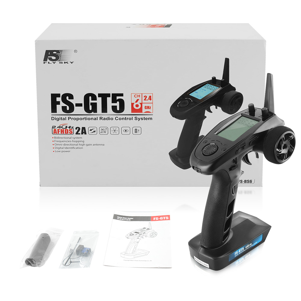 My Toots Flysky FS-GT5 2.4G 6CH RC Car Boat Parts Transmitter with FS-BS6 Receiver Built-in Gyro For RC Model Remote Control skyrc 6 in 1 program box for rc car boat parts page 3