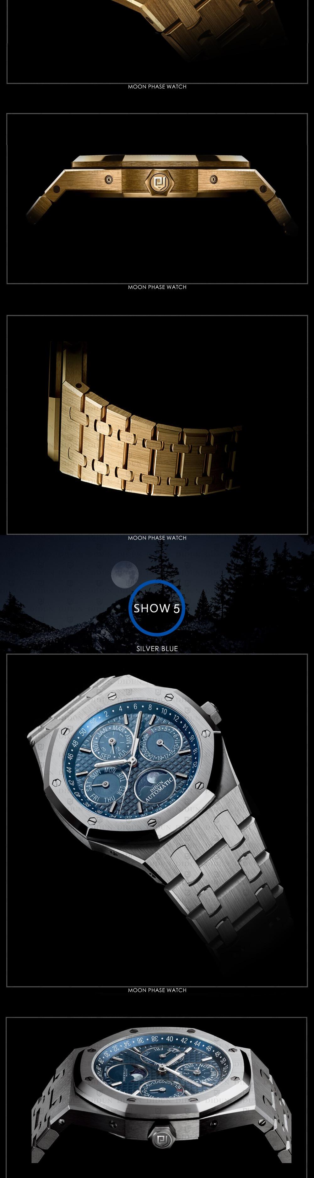 MP-BBF Didun Design Moon Phase Perpetual Calendar Mechanical Wristwatch  Automatic Core