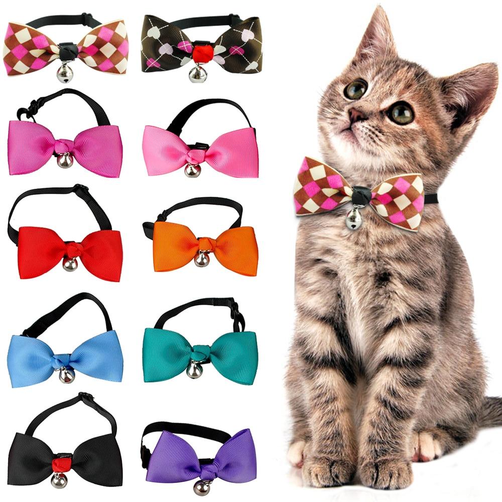 Cute Cat Bow Tie Dog Necktie Puppy Kitten Collar Bowknot
