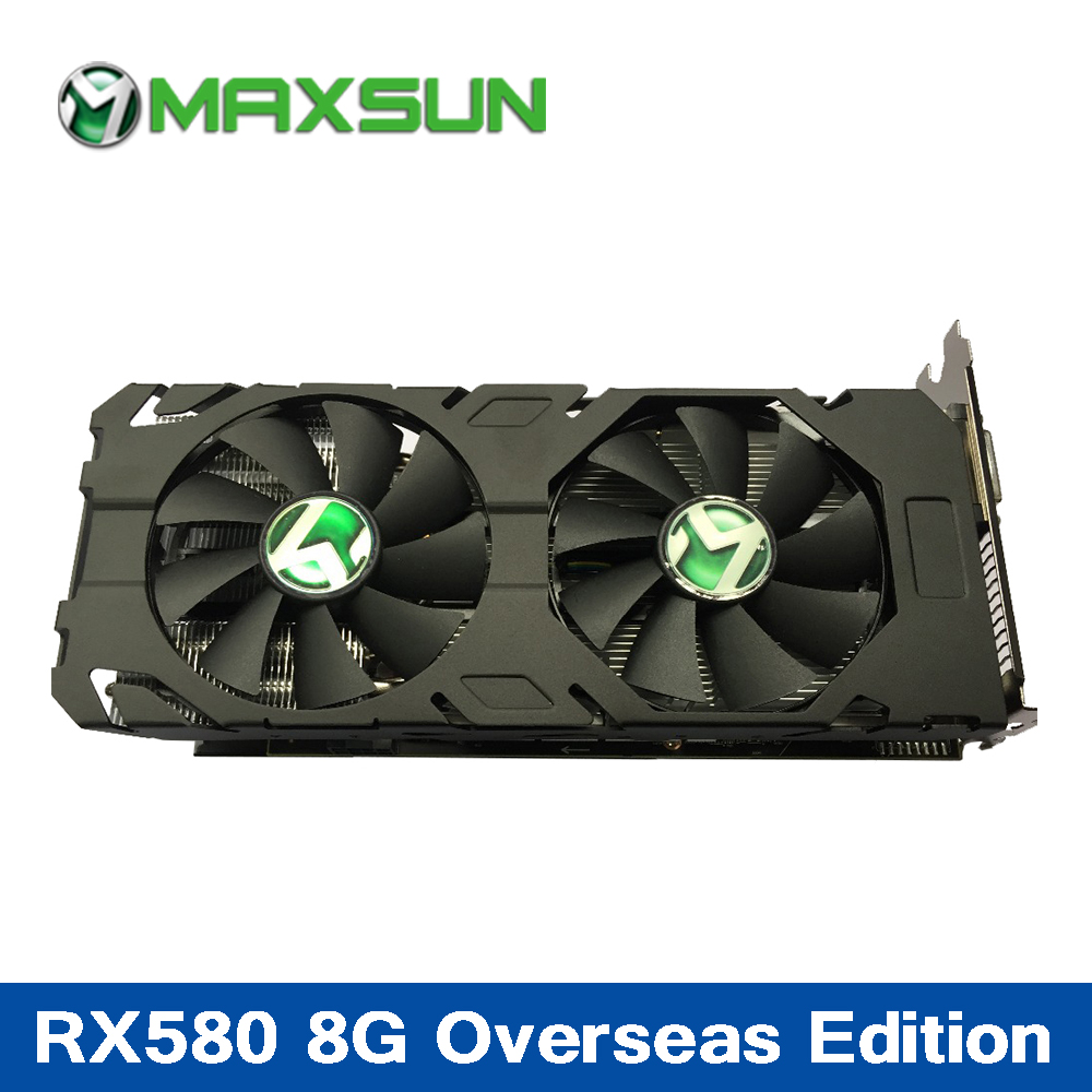 MAXSUN RX580 8G Graphics Card 8G AMD 256bit 8000MHz 1257