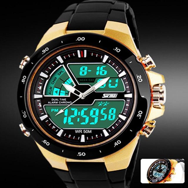 b749fede226 Skmei Relógios Militares Dos Homens Do Esporte Casuais de Esportes dos homens  Relógio De Quartzo-