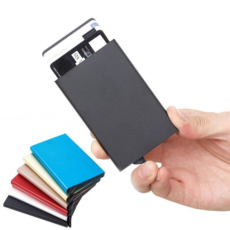 Portable Outdoor Travel Aluminum Alloy Bank Credit Card Package Metal Card Holder RFID ID Business Card Case