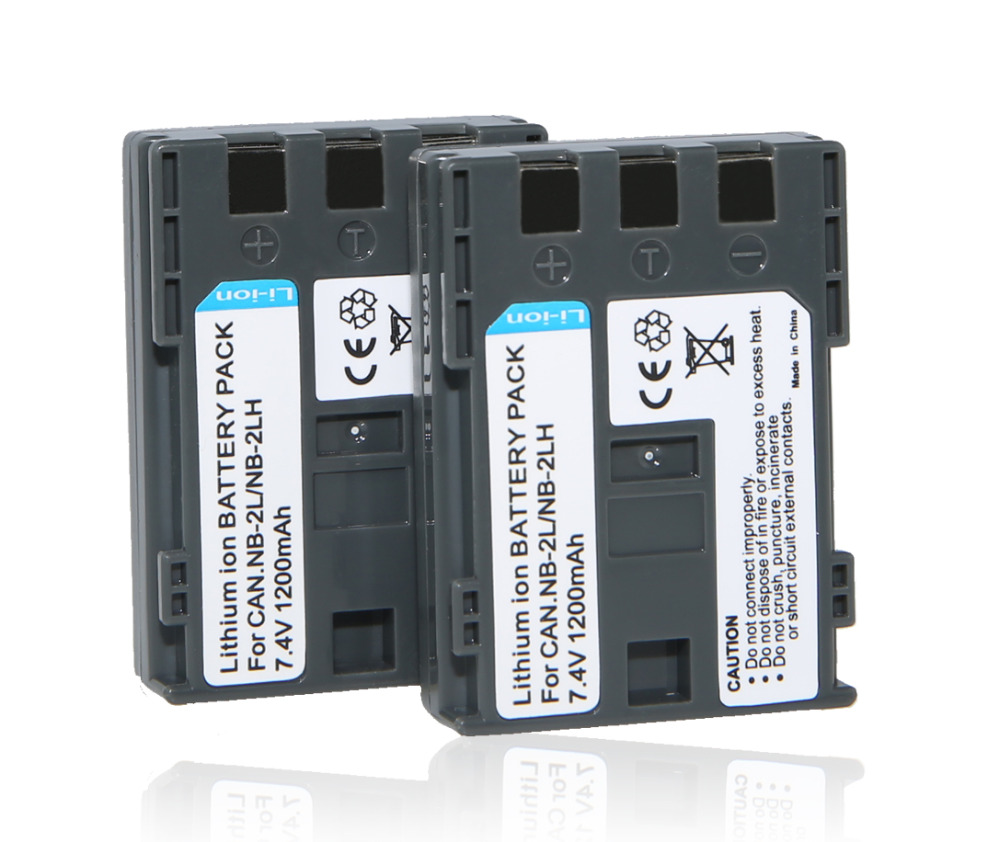 2Pcs/lot NB-2L NB-2LH BP-2L5 NB2L E160814 Battery For Canon PowerShot S30 S50 S55 S60 S70 G7 G9 DC310 DC320 DC330 S40 Z1