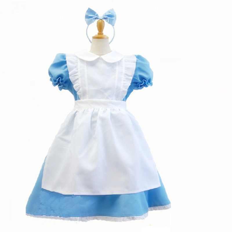 Алиса в стране чудес костюм для детей платье лолиты для девочек костюм горничной лолита фантазийный, для карнавала костюмы на Хэллоуин
