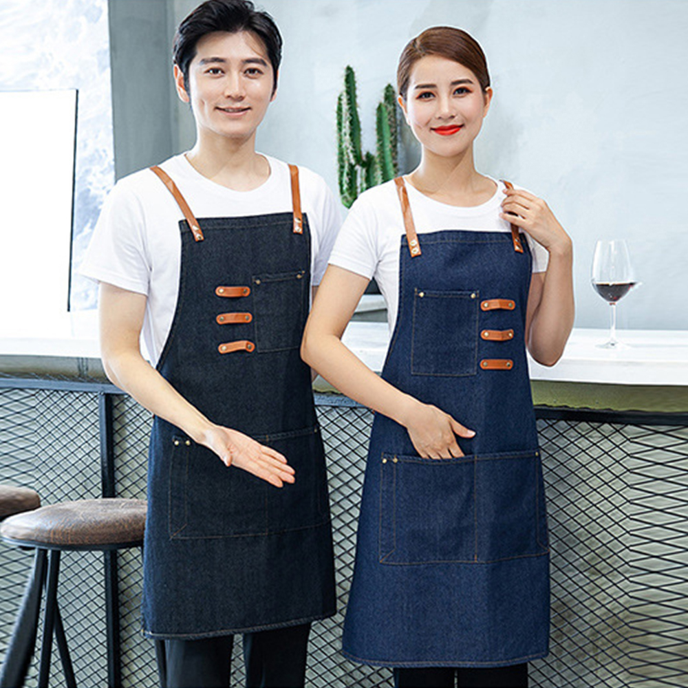 Newly Chef's Accessories Jean Waterproof Antifouling Kitchen Cooking Apron Restaurant Hotel Workwear Tablier Pinafore Apron