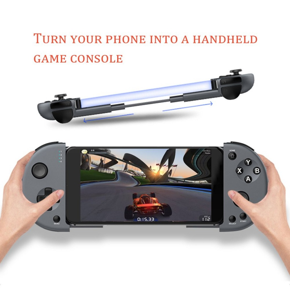 M1 Compact Size Extensible Design Wireless Bluetooth Game Controller High Speed 400mAh Battery Joystick for IOS Android Phone