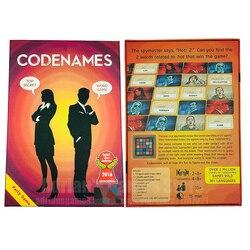 Codenames Jogo de Tabuleiro 2-8 Jogadores Jogos de Mesa Edição Inglesa Codename Board Game Jogos para Amigos e Família