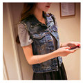 XS-5XL New Women's Denim Vest Spring and Summer 2017 Casual All-match Vintage Frayed Sleeveless Denim Coat Plus Size Female