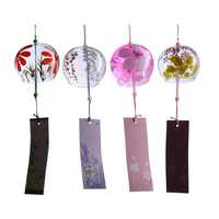 1pcs Japanese Style Glass Wind Chime Blessing Bell Room Hanging Windchimes Home Decorations Wind Chimes