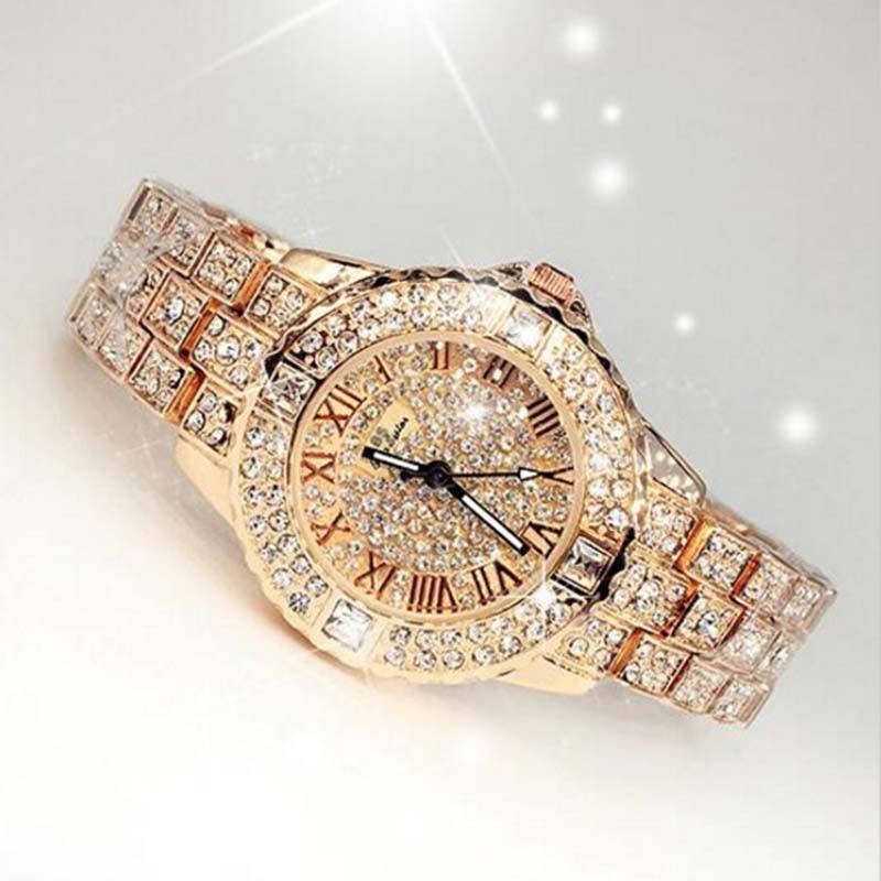 2017 New Women Rhinestone Watches Lady Dress Women watch Diamond Luxury brand Bracelet Wristwatch ladies Crystal Quartz Clocks