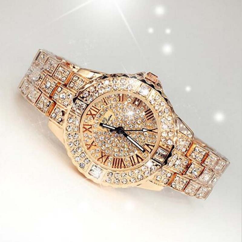 2019 New Women Rhinestone Watches Lady Dress Women watch Diamond Luxury brand Bracelet Wristwatch ladies Crystal Quartz Clocks