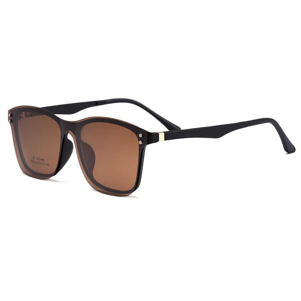 نظارات بصرية Gmei للرجال بإطار عالي الخفة على شكل مربع كبيرة مستقطبة نظارات شمسية للنساء S2034
