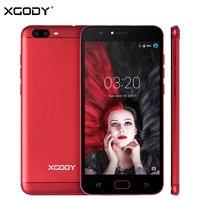 XGODY D18 Unlock 4G LTE 5.5 Pollice Smart Phone Android 6.0 MTK6737 Quad Core 1 + 16 Cellulare 8MP + 13MP Trasporto Libero Antiurto Cassa Del Telefono