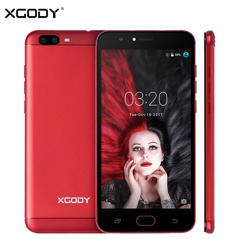 XGODY D18 Unlock 4G LTE 5.5 Inch Smart Phone Android 6.0 MTK6737 Quad Core 1+16 Mobile Phone 8MP+13MP Free Shockproof Phone Case