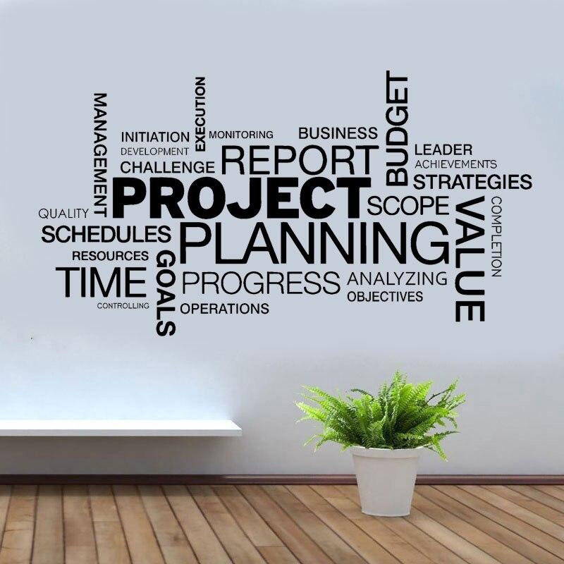 Проектная планировка цитаты наклейки на стену виниловые украшения интерьера офисные деловые наклейки съемные обои Z296