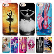 BALLERINA Ballet Dancer Girl Style Transparent Clear Phone Shell Case For  Apple IPhone 6 6s Plus