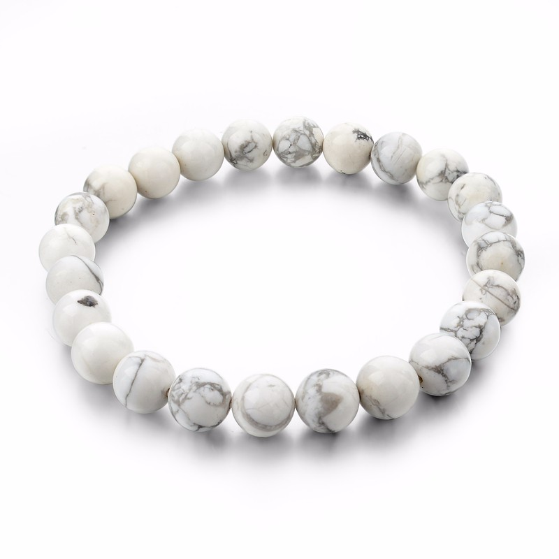 Natural Stone Strand Bracelets With Stones Love Casual Men Jewelry White Beads Bracelets & Bangles for Women 2016 Gift image