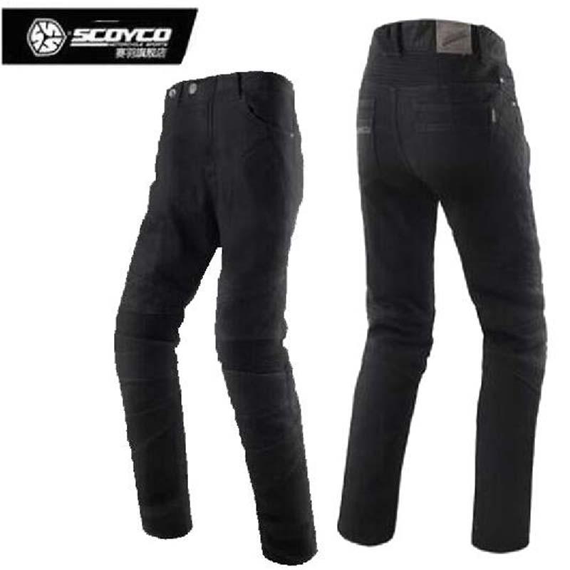 SCOYCO winter cold-proof warm motorcycle racing trousdes motorbik P036-2 Motorbike locomotive jeans rider pants