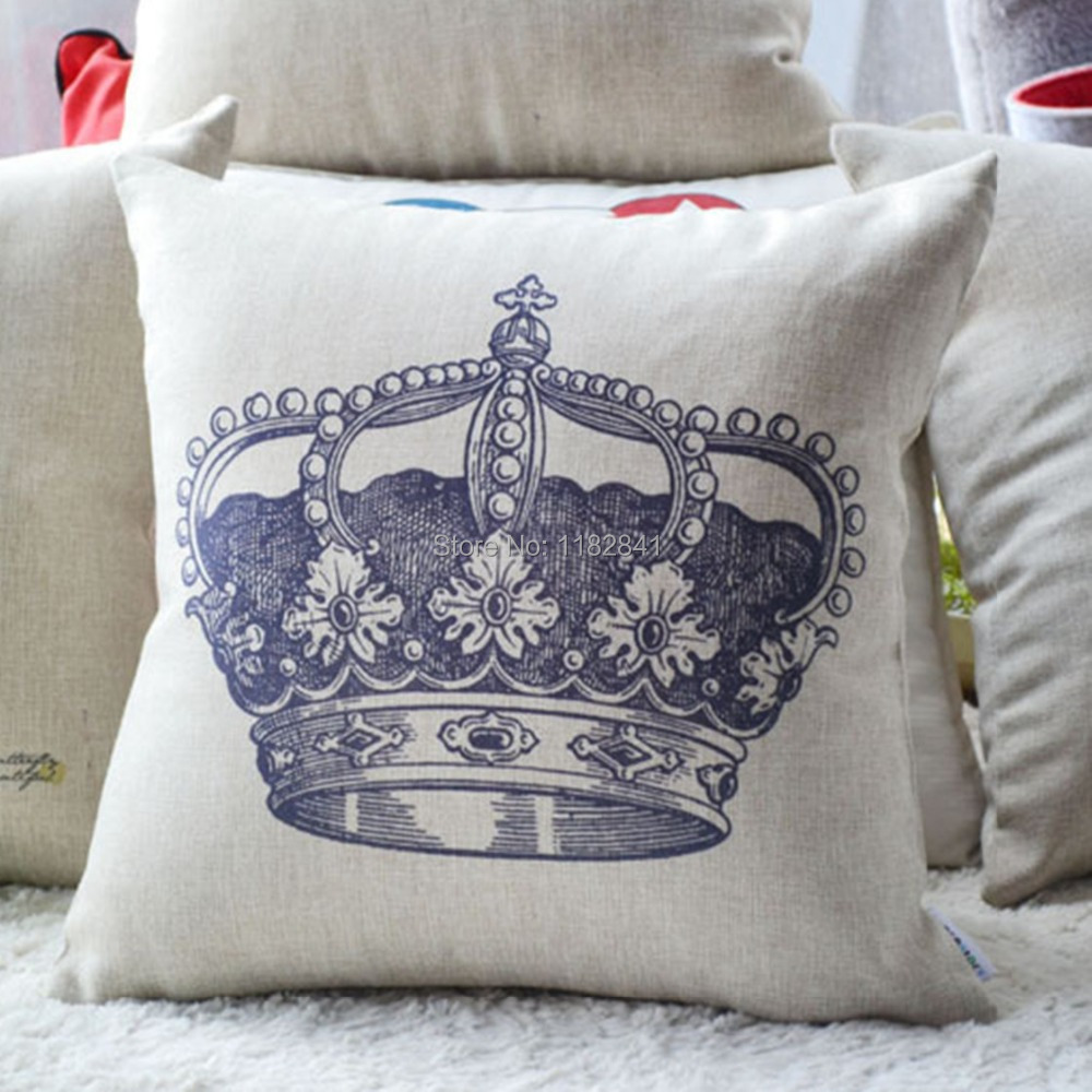 art of wood original design european and american style fashion crown bedroom pillows cotton and linen