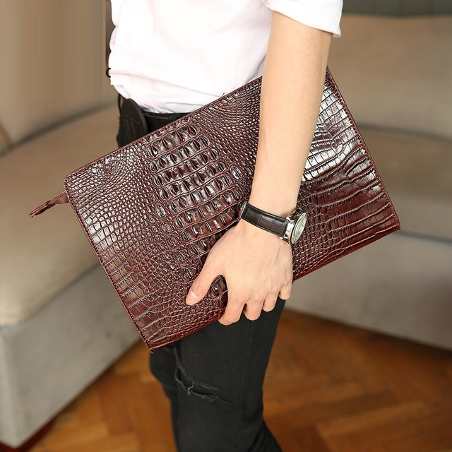 Aliexpress.com : Buy GUDANSEN Fashion Crocodile Grain Men Handbag ...