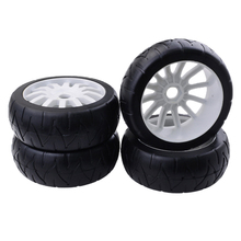 MagiDeal 1:8 4WD RC Electric Drift Car Model Wheel Tire Tyres 17mm Hex Rim for Hobby