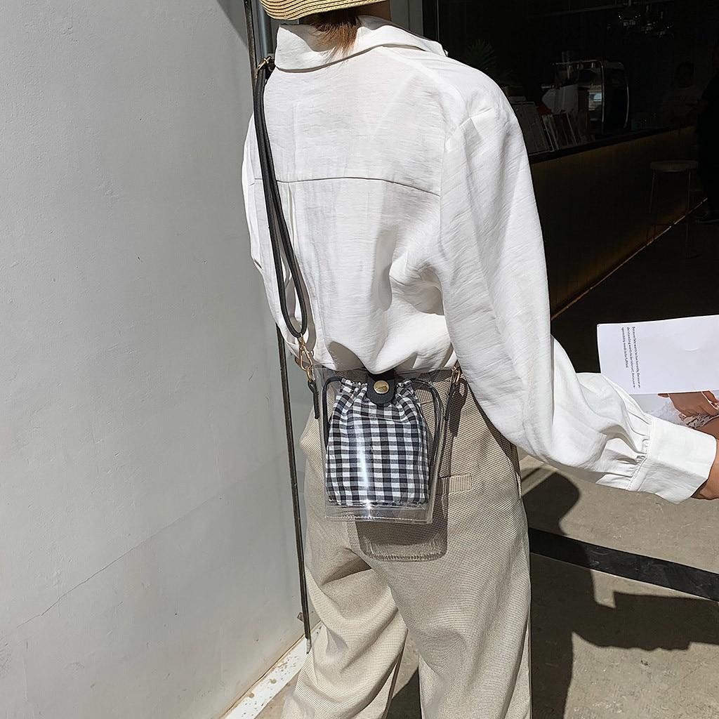 Bags for Shoulder-Bag Transparent-Bag Jelly Bolsas-De-Mujer Women -20 Package Composite-Top