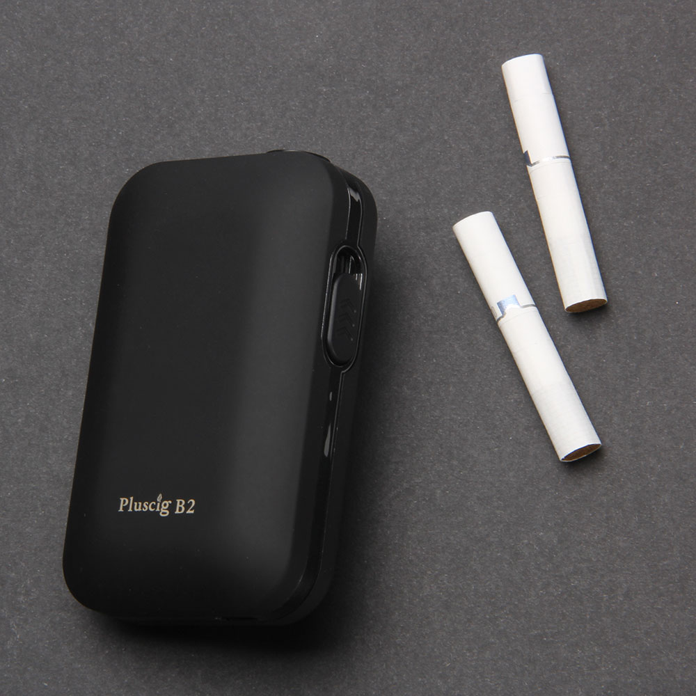 SMY 2pcs Pluscig B2 Temp Control 2200mAh Electronic Cigarette HNB up to 20 continuous smokable compatibility with iQOS stick