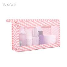 Travel Bag Women Cosmetic Portable Organizer Zipper Men Mesh Pouch Bathing Storage Bags
