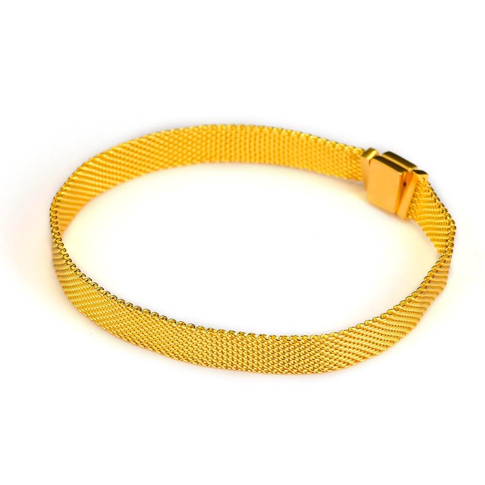 2018 nueva moda chapado en oro reflexiones pulseras para las mujeres y los hombres de la joyería de plata 925 DIY pulseras del encanto reflexiones colección