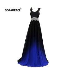 Doragrace robe de soiree A-Line Lace-Up Spaghetti Straps Bea