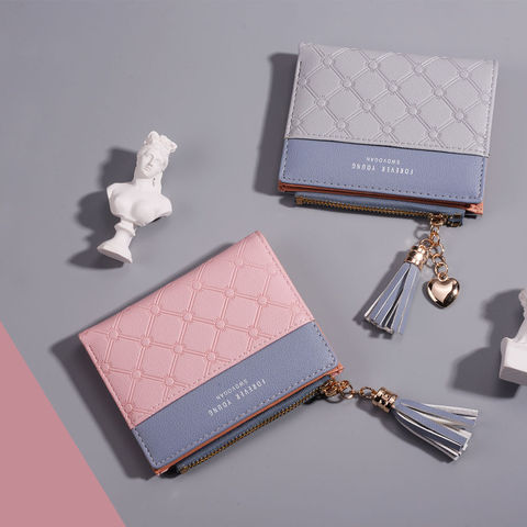 Famou Brand Cute Mini Women Wallet Purses PU Leather Small Short Wallet Coin Zipper Female Card Holder Leather Clutch Wallets Pakistan