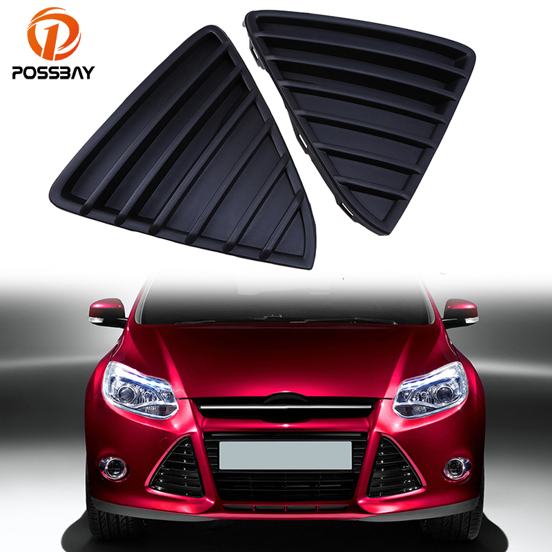 Ford Focus 2011-2014 Front Top Grille Mat Black With Chrome Moulding New