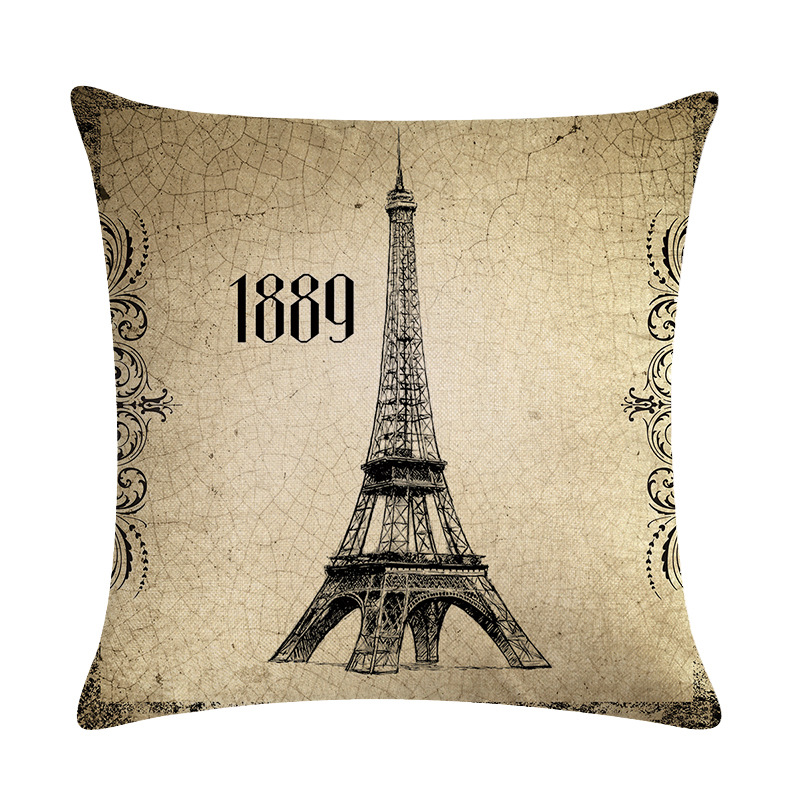 European Decorative Cushion Cover Logo Building Freedom Goddess Tower Pisa Leaning Tower Pattern Hug PillowcaseDecoration in Cushion Cover from Home Garden