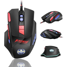 Profesional Wired Gaming Mouse 7 Button 6800 DPI LED Optik USB Mouse Komputer Gamer Mice G0 Permainan Mouse Silent Mause untuk PC(China)