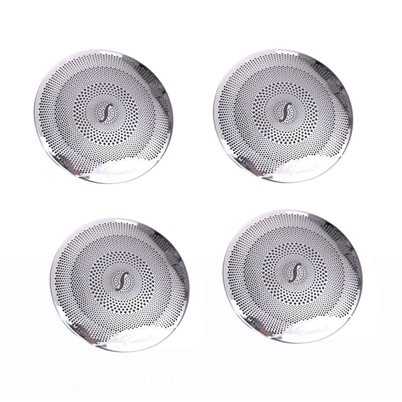 Door Loudspeaker Cover Trim for Mercedes Benz E//C//GLC Class W213 W205 A 4pcs Car Audio Speaker Cover