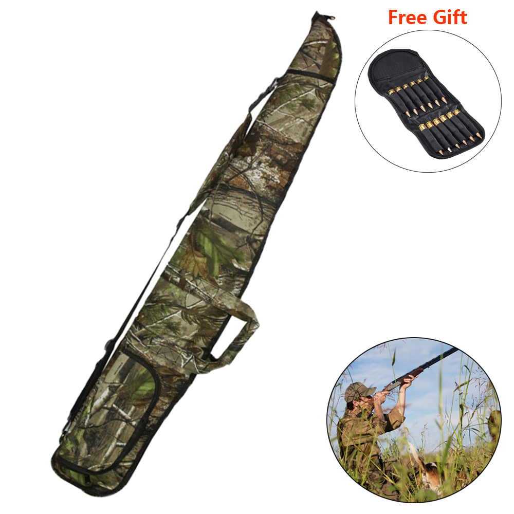 1200D Outdoor Camouflage Gun Case Military Hunting Soft Padded Gun Storage Airsoft Holster for Outdoor Shooting Hunting Bags(China)
