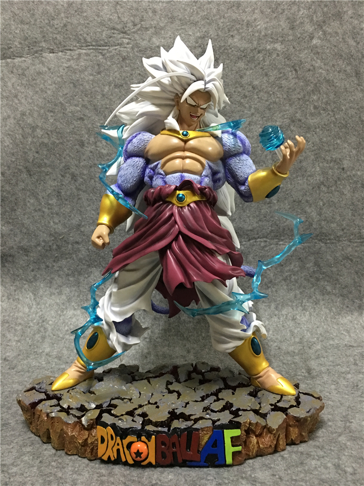 все цены на MODEL FANS HFC DRAGON BALL Z 48cm Super Saiyan 5  broli Brolly GK resin contain led base action figure toy онлайн
