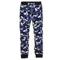 2016 Осень Мода Новый Дизайн Армия Камуфляж Печатные Брюки Мужчины Карманы Брюки Военные Брюки Pantalon Homme Плюс Размер