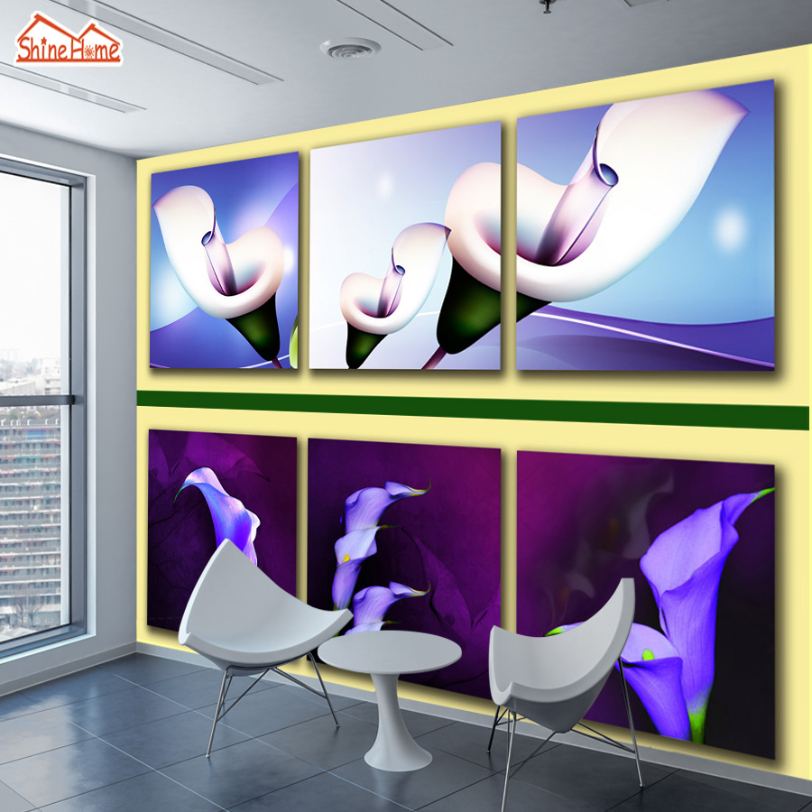 ShineHome-Custom Photo Wallpapers Walls 3d Living Room Flower Painting Frame Wall Daffodil Home Bedroom Mural Wall Paper Decor shinehome sunflower bloom retro wallpaper for 3d rooms walls wallpapers for 3 d living room home wall paper murals mural roll