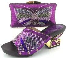2017 neuesten Italienischen Schuh Mit Passender Tasche Für Party mode Steine Afrikanische Hochzeit Schuh Und Tasche Set Entsprechen ME3325