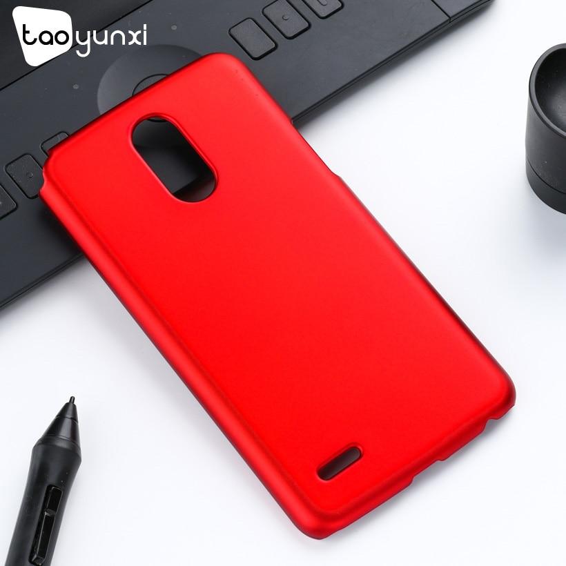 TAOYUNXI ультра тонкий чехол для LG Stylus 3 случаях Жесткий Пластик матовый чехол для LG K10 Pro LS777 охватывает масла покрытием кожи сумки
